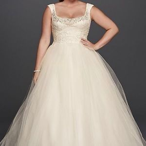 David's Bridal Plus size wedding dress